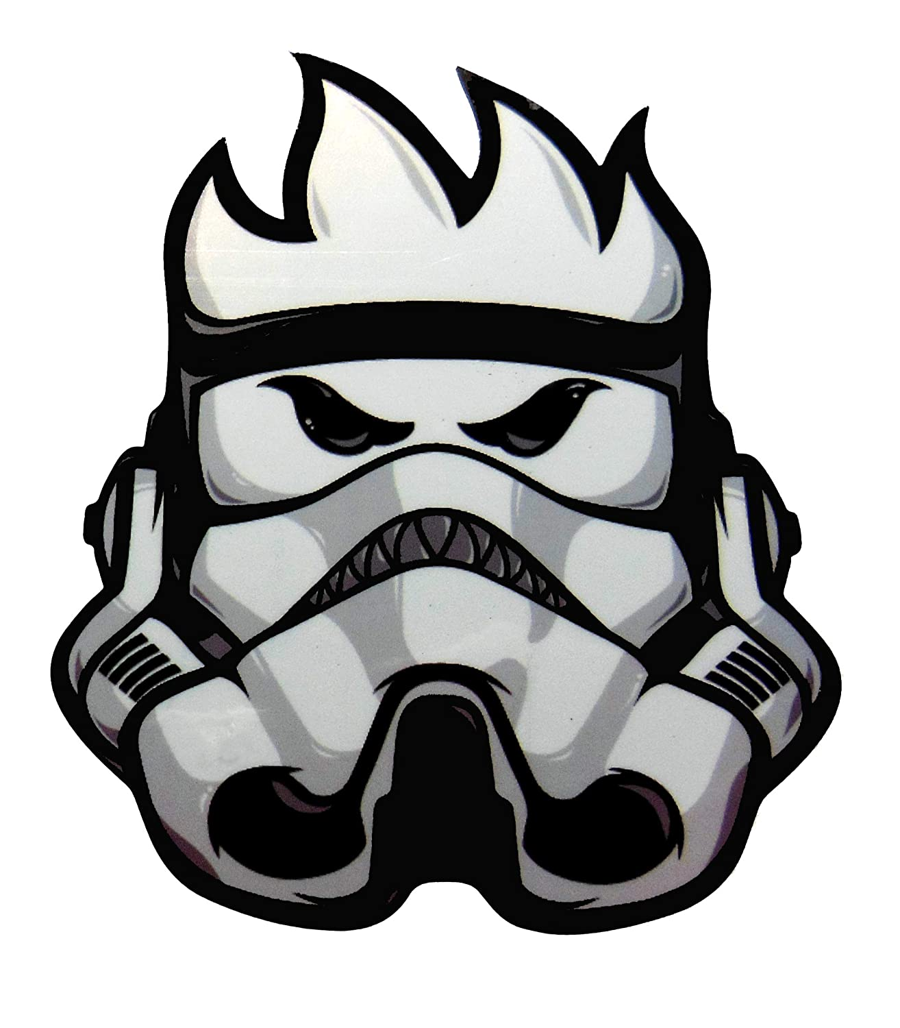 VATH Spitfire Flame Head Storm Trooper Sticker 60mmW x 75mmH / 2 7/8' H x 2 3/8' W [C56]