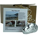 9th Anniversary You Are My Rock Gift Idea - Solid Metal Heavy Polished Rock Gift for 9 Year Anniversary