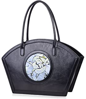 PIJUSHI Women Designer Shoulder Handbag Floral Leather Tote Purses