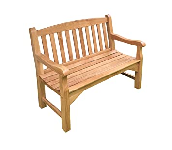 Astonishing Majestique Garden Furniture 4Ft Chunky Oak Bench 2 Seater Theyellowbook Wood Chair Design Ideas Theyellowbookinfo