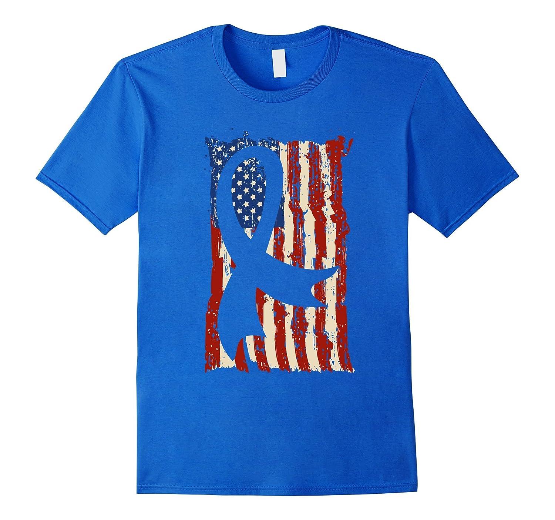 American Flag Breast Cancer Shirts Gift Mom and Grandma-FL