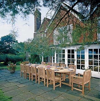 Wordsworth Large 12 Seater Teak Garden Dining Set - Premium Teak Garden  Furniture Set - Jati