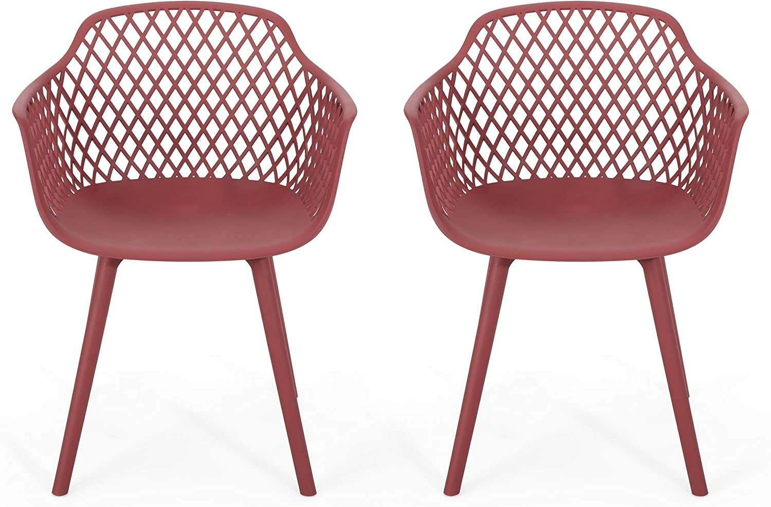 Christopher Knight Home 312470 Delia Outdoor Dining Chair (Set of 2), Red