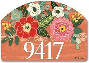 Yard Design Studio M Terra Flora Decorative Address Marker Yard Sign Magnet, Made in USA, Superior Weather Durability, 14 x 10 Inches