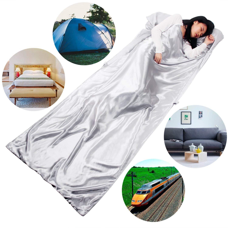 HOVNEE Saco de dormir de verano de microfibra,funda para la almohada,Sábanas interiores