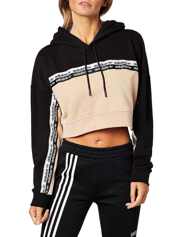 adidas originals Cropped Hoodie Donna Black Abbigliamento