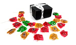 Tootsie Assorted Apple Orchard Caramel Apple Pops, 1 lb Bag in a BlackTie Box