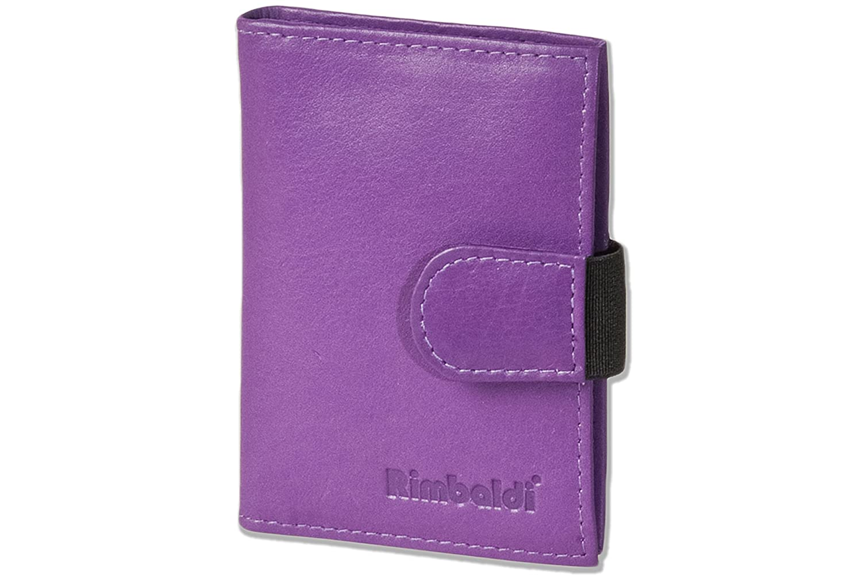 Blau Rimbaldi/® XXL-Kreditkartenetui mit 20 Kartenf/ächern aus weichem naturbelassenem Rindsleder in Royalblau