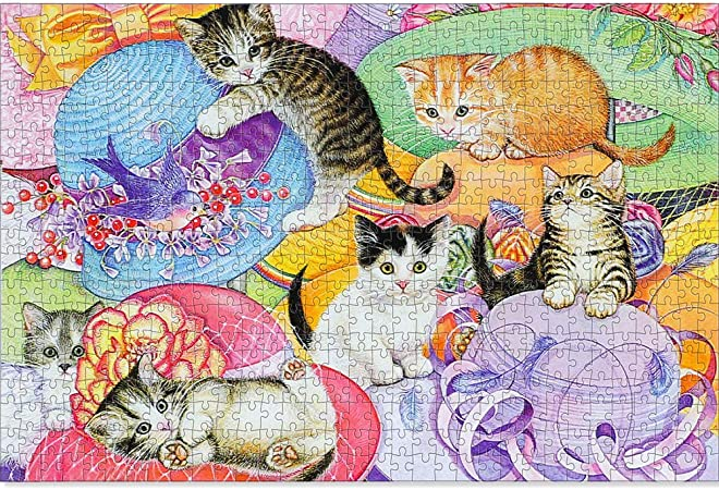 1000 Fast Adult Puzzle Kitty Kitchen Helper Jigsaw Cute Cat Puzzle Indoor Activities Educational Entertainment Adult Game Family Puzzle Children Puzzle Product Size 27.5 19.6 inches