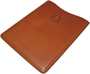 Polo Ralph Lauren Purple Label Leather iPad Pro Tablet Sleeve Case Brown Italy