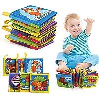 LinStyle Libros Blandos para Bebé, Libro de Tela