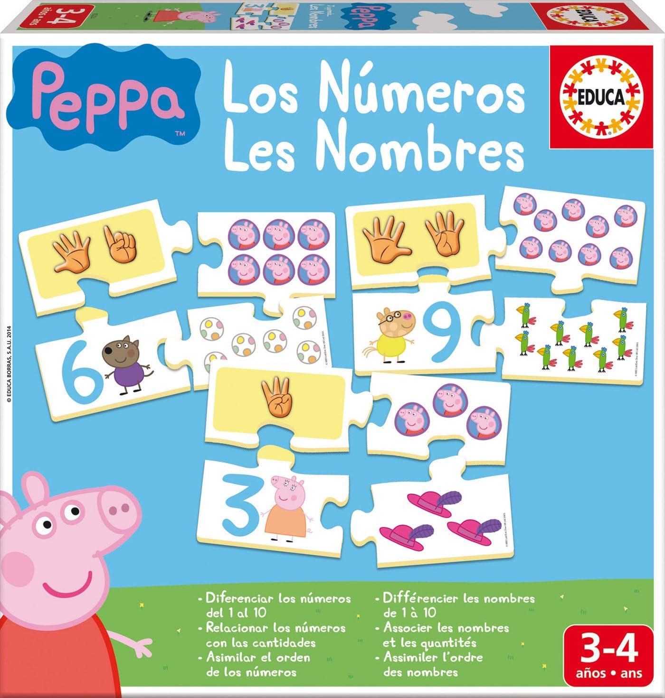 Educa - Aprendo Los Números Peppa Pig, juego educativo para niños, a partir de 3 años (16224)
