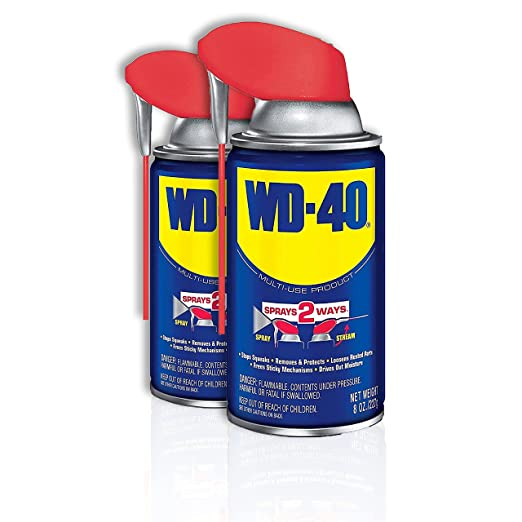 WD-40 - 490142 Multi-Use Product with SMART STRAW SPRAYS 2 WAYS, 8 OZ [2-Pack]: Amazon.com: Industrial & Scientific