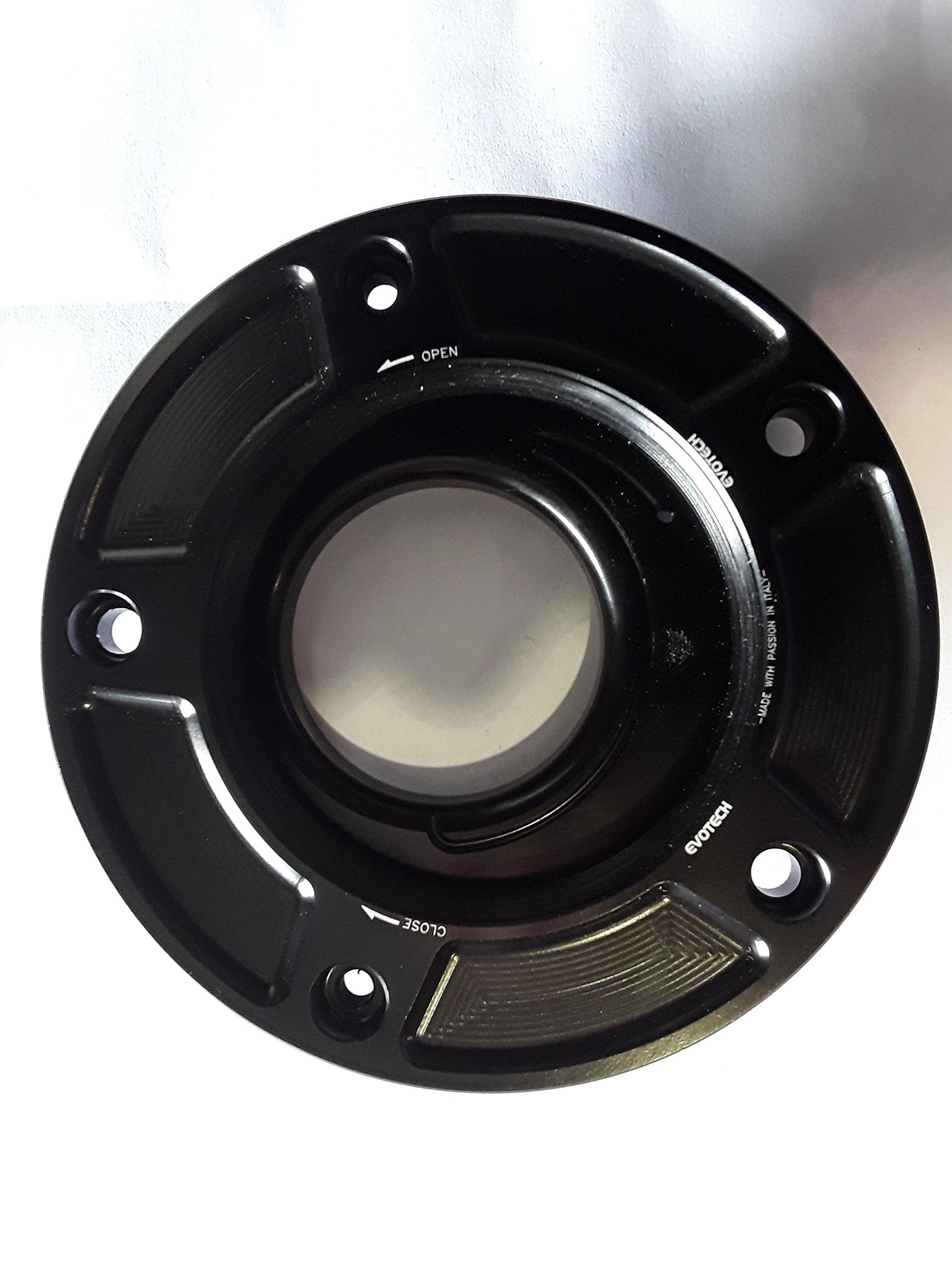 Evotech Performance FC-SU1 Gas Cap Base Black for some Suzuki Sportbikes