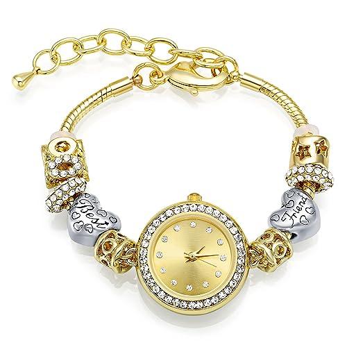 Relojes mujer MANBARA Cristal Best Friend con Número 8 Cristal Swarovski Regalo Ajustable Reloj de Pulsera: Amazon.es: Joyería
