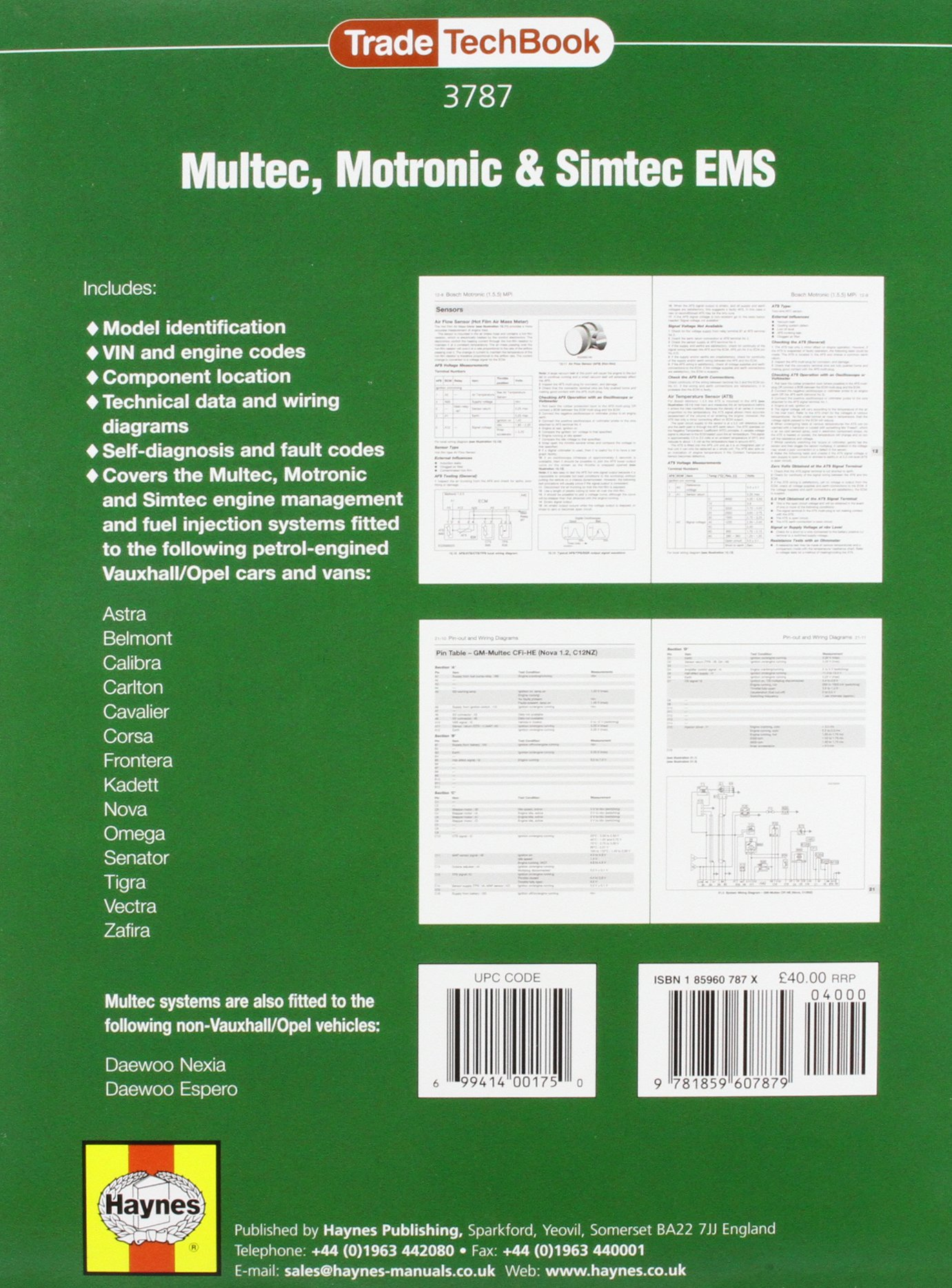 Multec Motronic And Simtec Engine Management Systems Trade Techbook Daewoo Espero Diagram Charles White Keith Ravenhill 9781859607879 Books