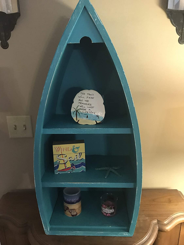 Tall solid wood boat shelf bookcase 36 inch tall boat shelf 30 inch tall boat shelf beach house furniture nautical home decor custom made furniture