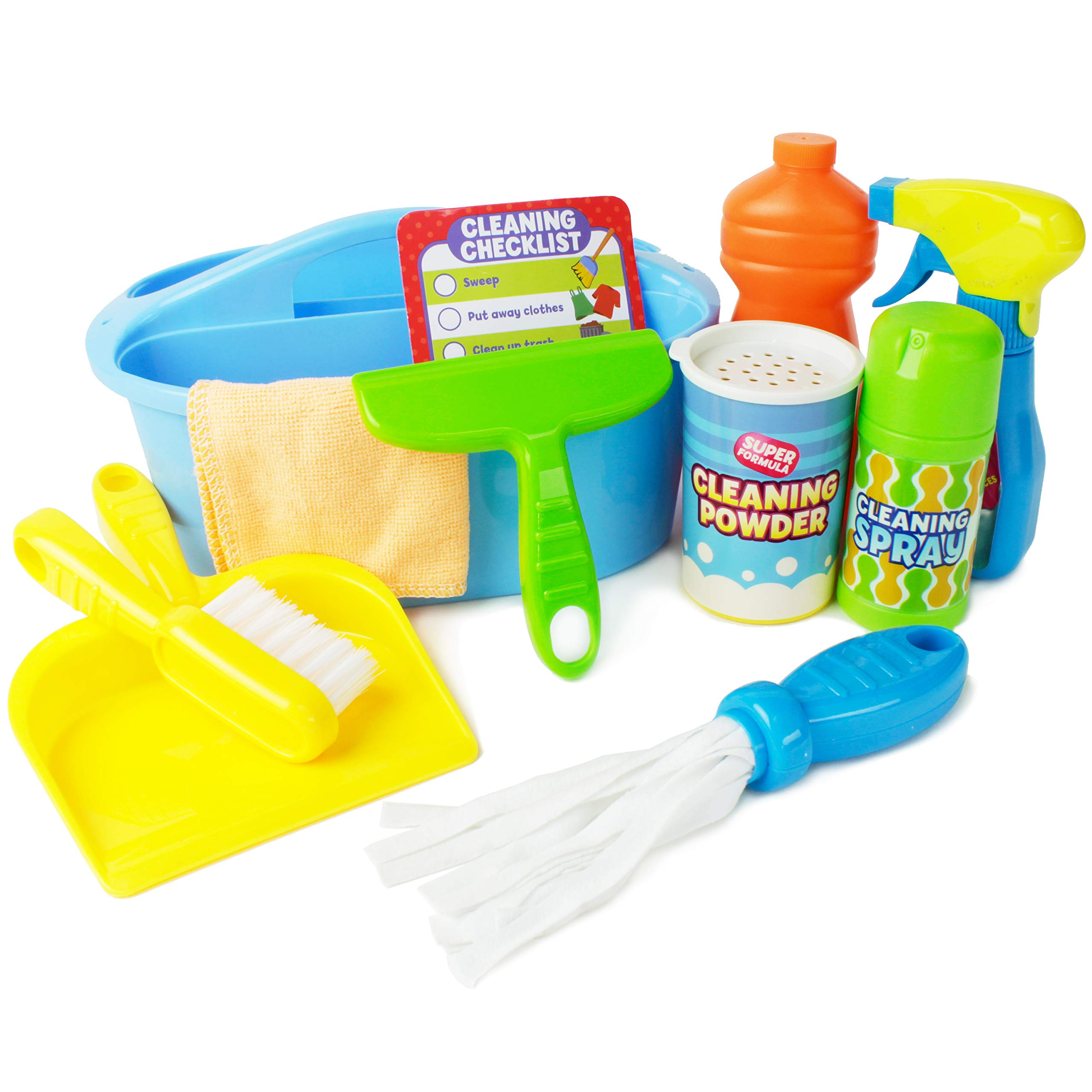 Boley Pretend Play Cleaner's Caddy - Cleaning Supplies Play Set for Toddler Education and Learning Development - Easy to Carry and Kid Friendly! by Boley