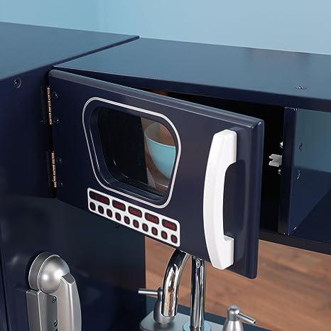 kidkraft marineblaue retro-küche 53296: amazon.de: spielzeug - Kidkraft Weiße Retro Küche 53208