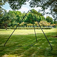 Outdoor Swing Hammock Frame Stand Stable Triangle Iron Playground Express Setup Accessory