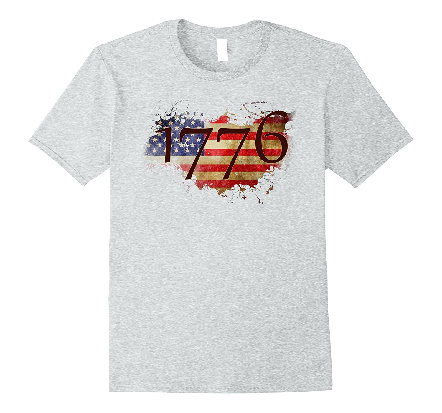 America Since 1776 with Flag retro T-shirt July 4th-PL
