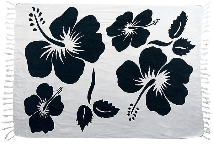 Amazoncom Turtle Island Imports Large Print Hibiscus Flower Sarong