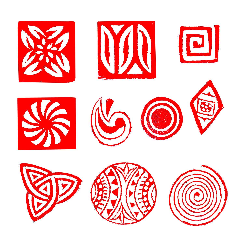 Set of 10 DIY Henna Fabric Textile Paper Clay Pottery Block Blocks Htag2161 Royal Kraft Animal Wooden Printing Stamps