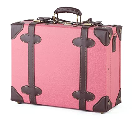 Amazon.com | MOIERG Vintage Trunk Box Case Bag Luggage 2tone Pink ...