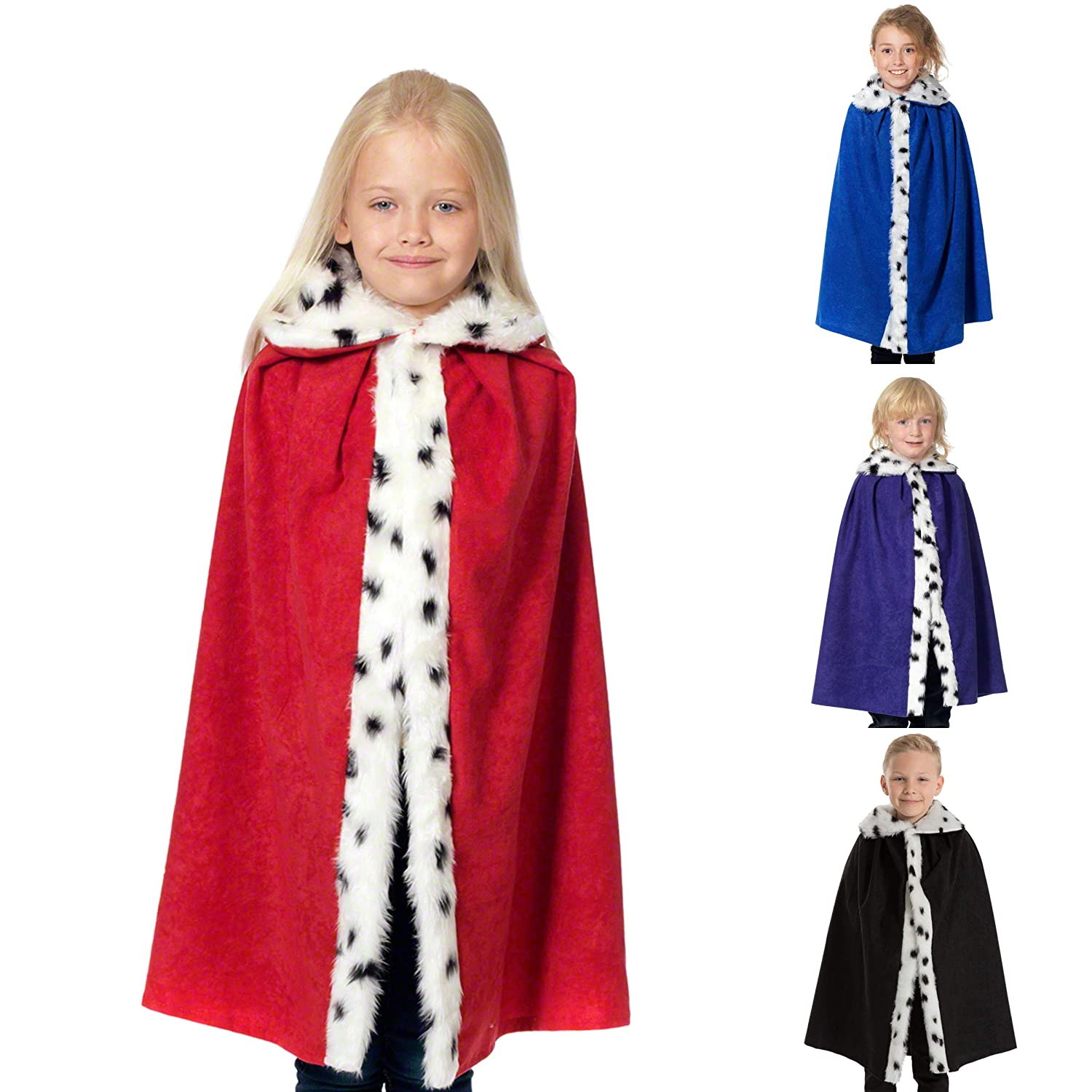 Childs Deluxe King Cloak - Red (disfraz): Amazon.es: Juguetes y juegos