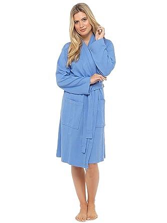 Damen Waffel Robe Bademantel, weich 100% Baumwolle gewickelt Kimono ...
