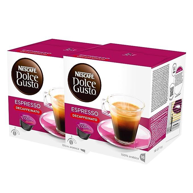 Nescafé Dolce Gusto Espresso Decaffeinato, Paquete de 2, 2 x 16 ...