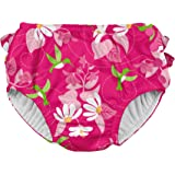 i play. Girls Ruffle Snap Reusable Absorbent Swimsuit Diaper