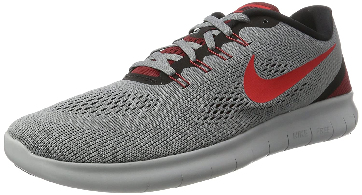 [ナイキ] NIKE スニーカー FREE RN B072C5R62Y US06.0|Cool Grey/Black/Team Red/Action Red