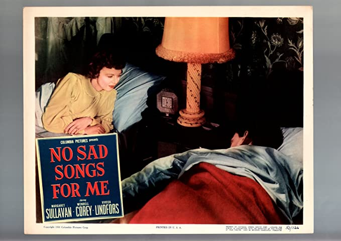 Amazon com: MOVIE POSTER: NO SAD SONGS FOR ME-1950-MARGARET SULLAVAN