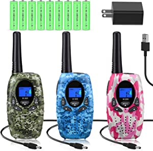 Topsung Walkie Talkies Rechargeable for Kids/Adults, FRS Rechargeable Two Way Radios Long Range with Charger Batteries, Upgraded Version Portable Walky Talky for Camping (Camouflage)