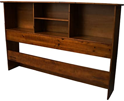 Epic Furnishings Stockholm Bamboo Solid Bookcase Headboard, Full/Queen Size,  Walnut