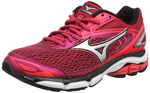 Mizuno Wave Inspire 13 (w), Zapatillas de Running para Mujer, Rojo (Persian Red/Silver/Black), 44 EU: Amazon.es: Zapatos y complementos