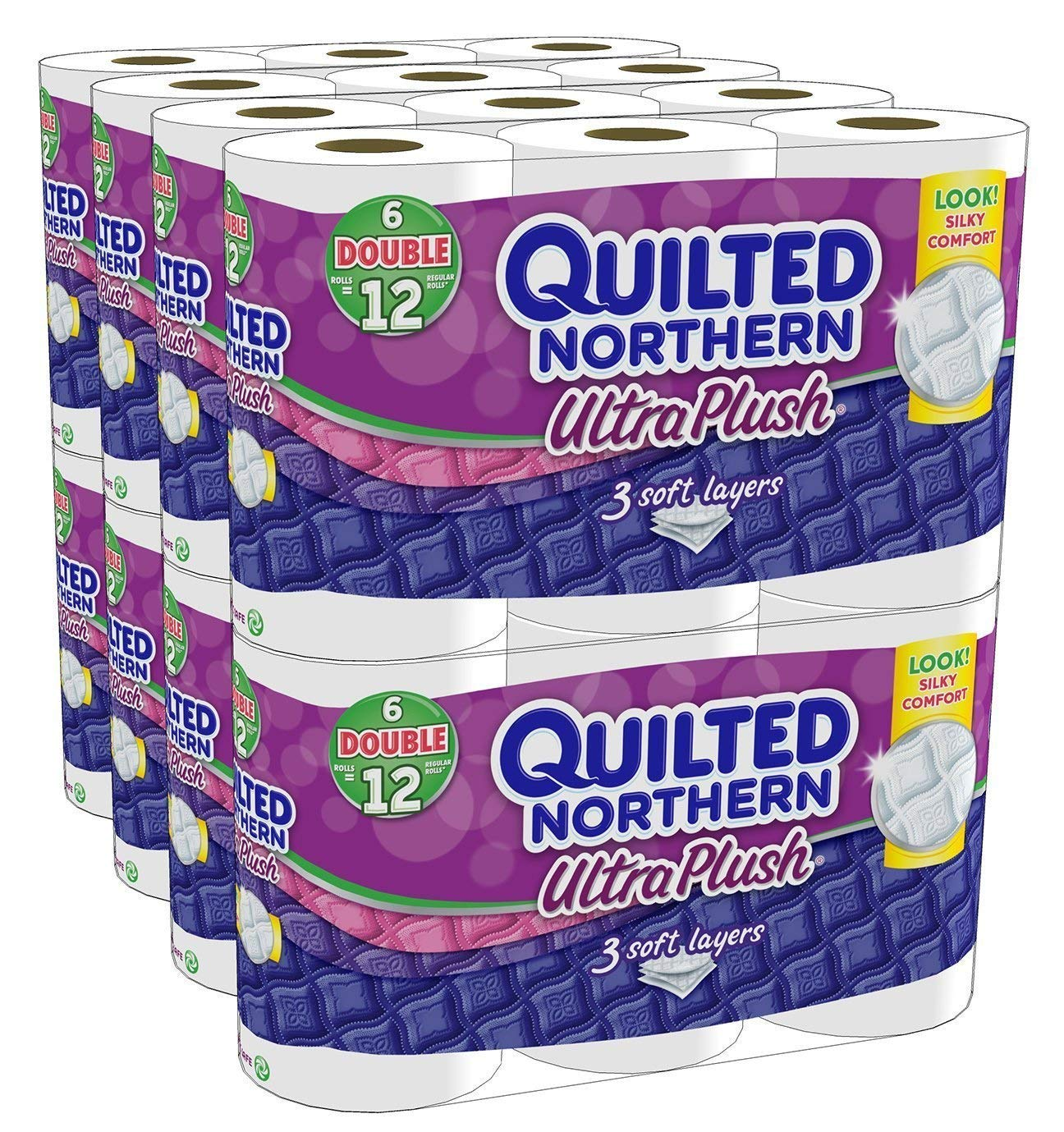 Quilted Northern Ultra Plush Bath Tissue, 48 Double Rolls (8,448 Sheets) by Quilted Northern