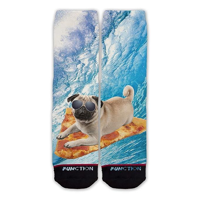 Función - Pizza Surf calcetines de diseño de perros: Amazon.es: Ropa y accesorios