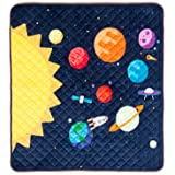 HIDEABOO Children's Portable Super Soft Activity Play Mat for Babies and Toddlers, Outer Space Rocket