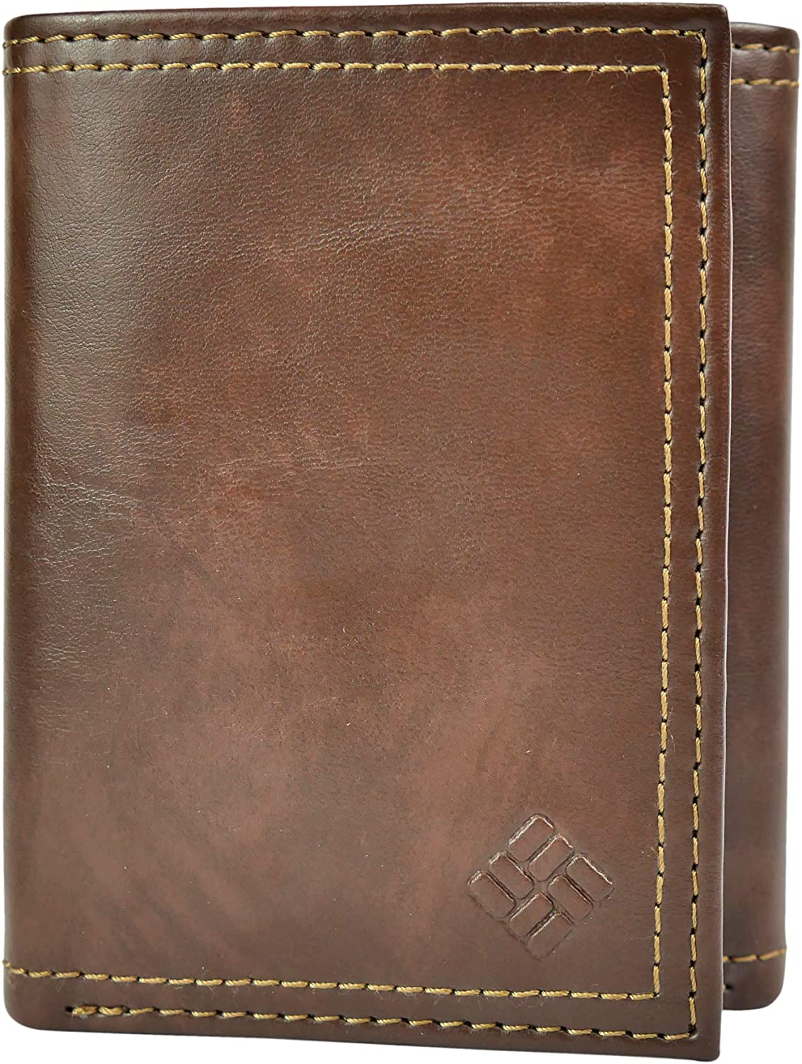 Columbia Mens RFID Blocking Leather Slim Trifold Wallet