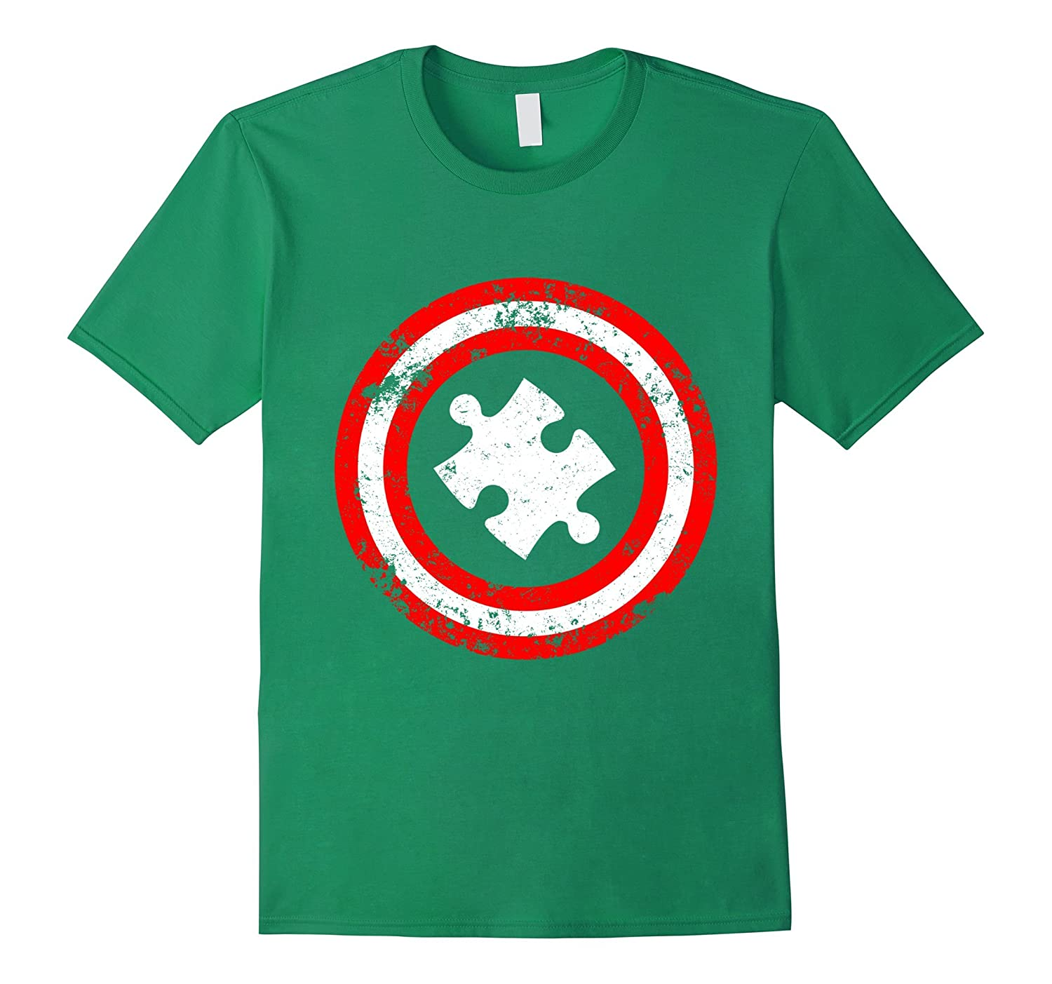 Captain Autism Superhero T-Shirt - Autism Awareness Shirts-FL
