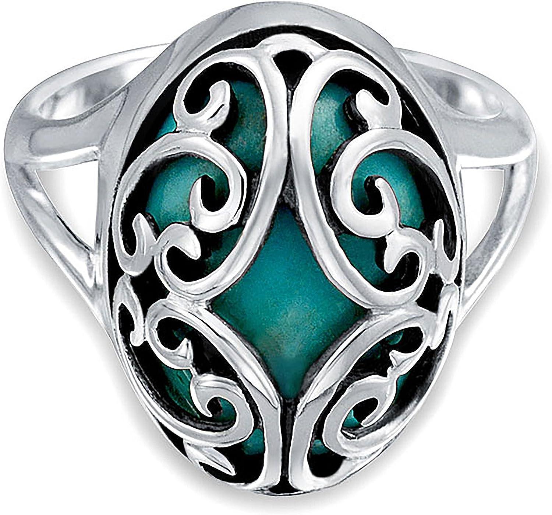 Desplácese Piedras Preciosa Oval Azul Turquesa Estabilizada Mujer Para Banda Anillo Plata Esterlina 925 Adolescentes