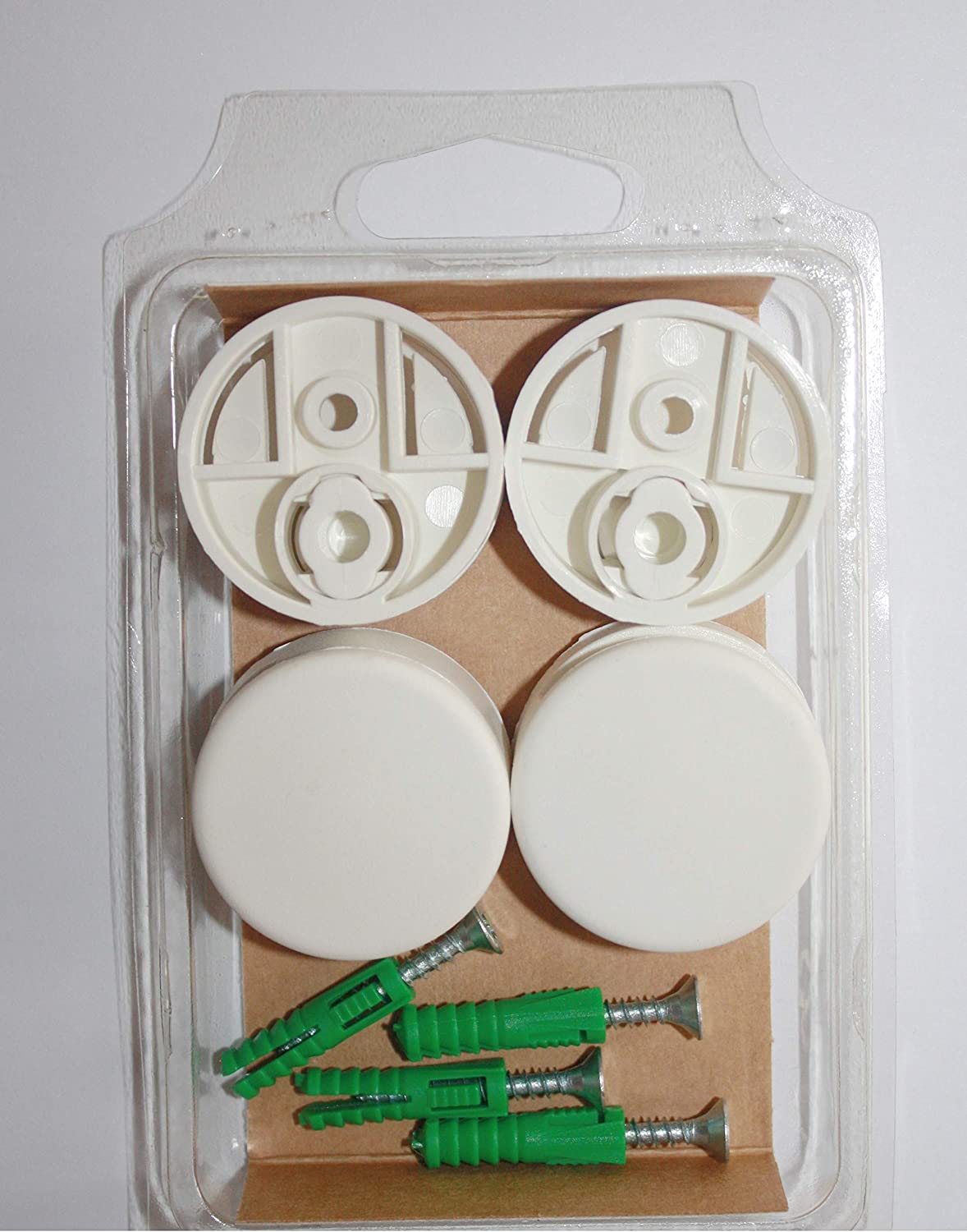 """Diam 4-Pack Round Mirror Mounting Clips Set 1-1//8/"""" Gold"""