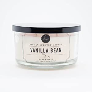 DW Home Large Triple Wick Candle, Vanilla Bean