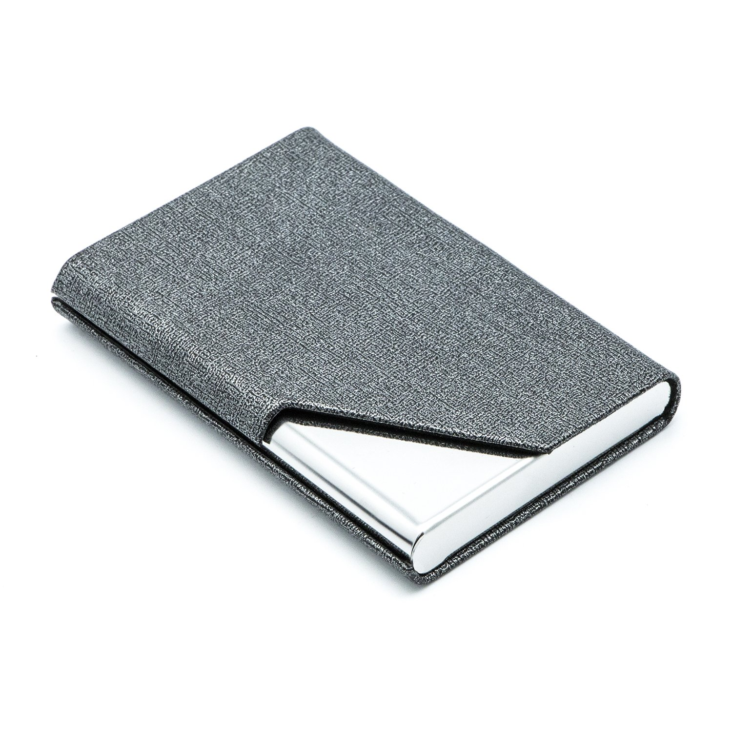 c53cf52ba8b93 Business Name Card Holder Luxury PU Leather    Stainless Steel Multi Card  Case