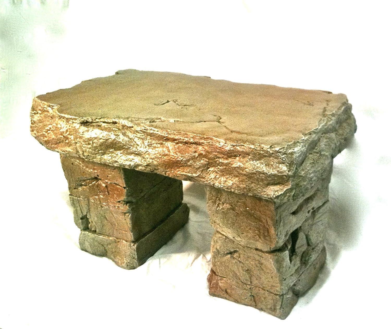 Amazon com    Garden Bench  Cast Stone Granite Rock Bench 3 Piece  Patio  Furniture  Concrete Bench Hand Sculpted Rustice Garden Decor   Outdoor  Benches. Amazon com    Garden Bench  Cast Stone Granite Rock Bench 3 Piece
