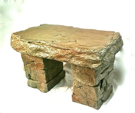 U0026quot;Garden Benchu0026quot; Cast Stone Granite Rock Bench 3 Piece, Patio  Furniture,