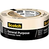 3M 2050 Scotch Masking Tape for General Painting, 1.88-Inch x 60.1-Yard, 1-Pack