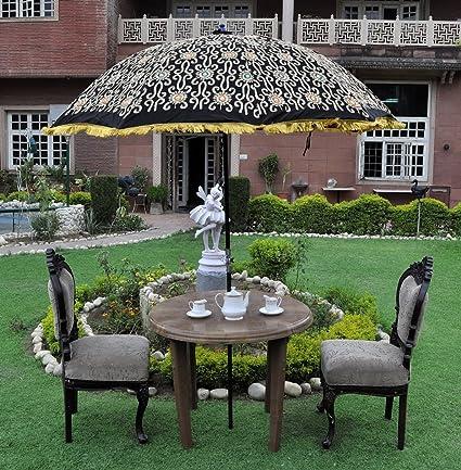 Indian Garden Parasol New Umbrella Beach Cafe Restaurant Deck Outdoor Yard  Patio - Amazon.com: Indian Garden Parasol New Umbrella Beach Cafe Restaurant